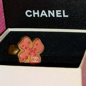 SOLD Authentic Chanel four leaf clover ring in a s
